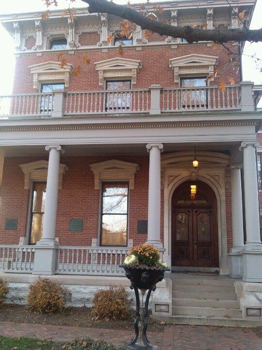Benjamin Harrison Home   House styles, Home, Benjamin harrison  Benjamin Harrison House