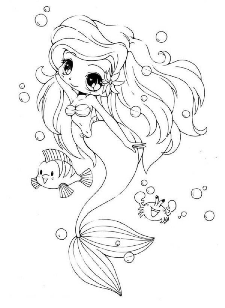 Anime Mermaid Coloring Pages Mermaid coloring pages