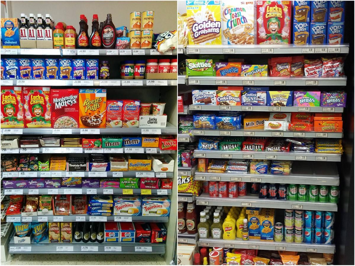 What American Food Aisles Look Like In Other Countries American Food Food Mexican Food Recipes