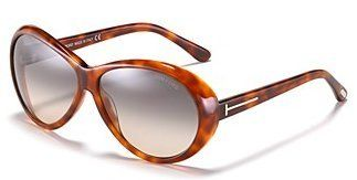 a3132f094bc Tom Ford Sunglasses Geraldine   Frame  Shiny Light Havana Lens  Grey  Gradient Tom Ford