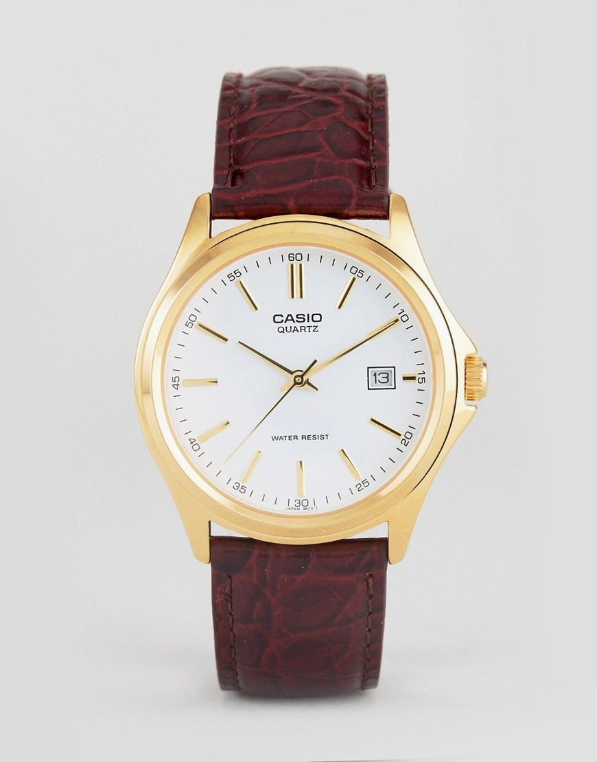 Mtp1183q Analogue In Leather Watch Casio 7a BrownProject 5 doeCxBQrWE