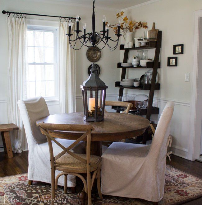 Fall Dining Room And A Not So New Rug  Rustic Home Decor Entrancing Jute Rug In Dining Room Decorating Design