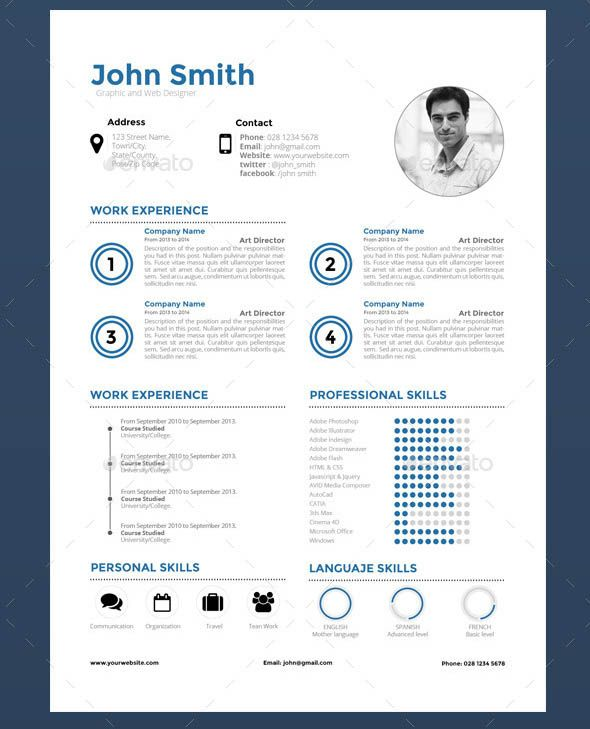 Clean Sharp Resume  Career  Cv Examples    Indesign