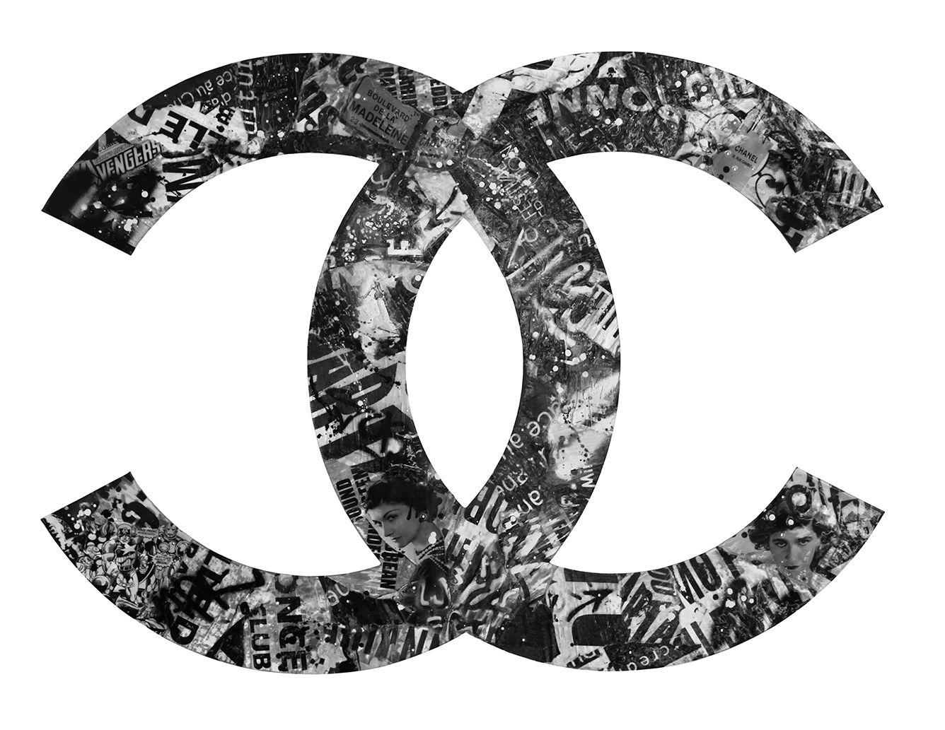 Chanel 150 X 110 X 3 Cm Acrylique Collage Sur