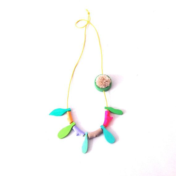 blad van de ketting kleurrijke halsketting natuurlijke