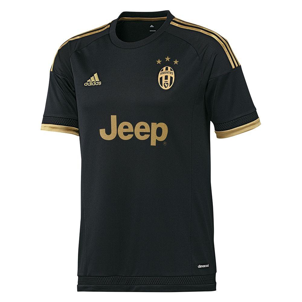 Adidas Juventus '15-'16 Third Soccer Jersey (Black/Dark Football ...