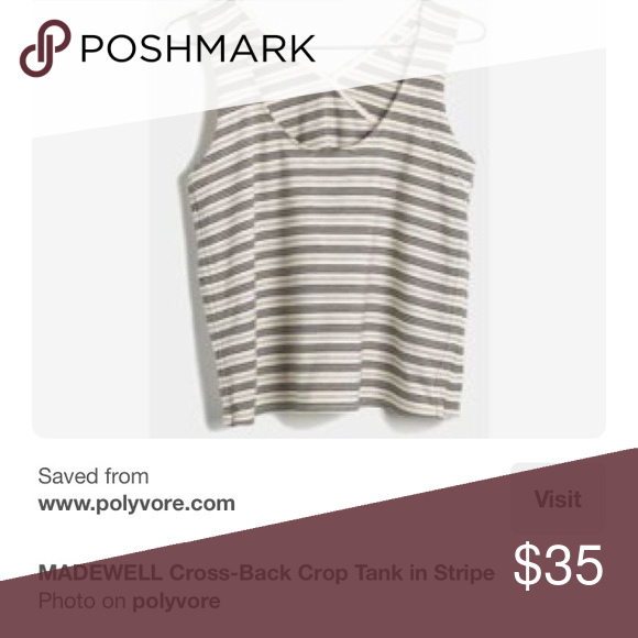 Looking for this top in small or medium Madewell cross back stripe crop top! Please let me know if you have it for sale!!! Thanks!!! Madewell Tops Crop Tops