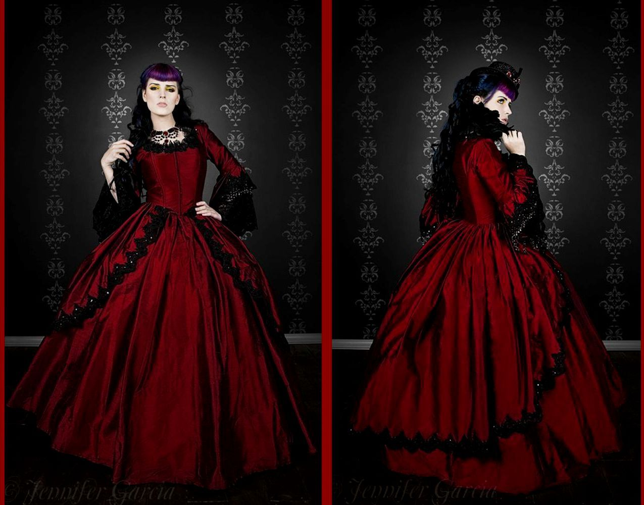 007705b249b Plus Size Red Gothic Wedding Dress - Gomes Weine AG