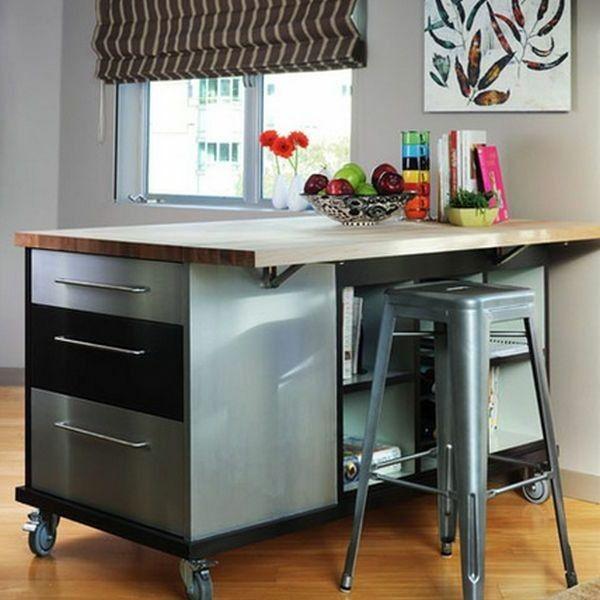 modernes küchen design | aequiv | mobile kücheninsel