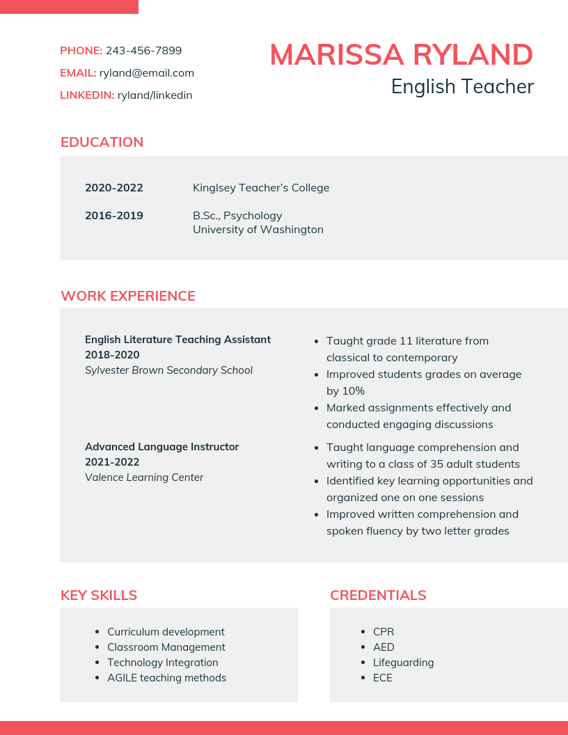 Modern Student Resume Template Produce a fresh student