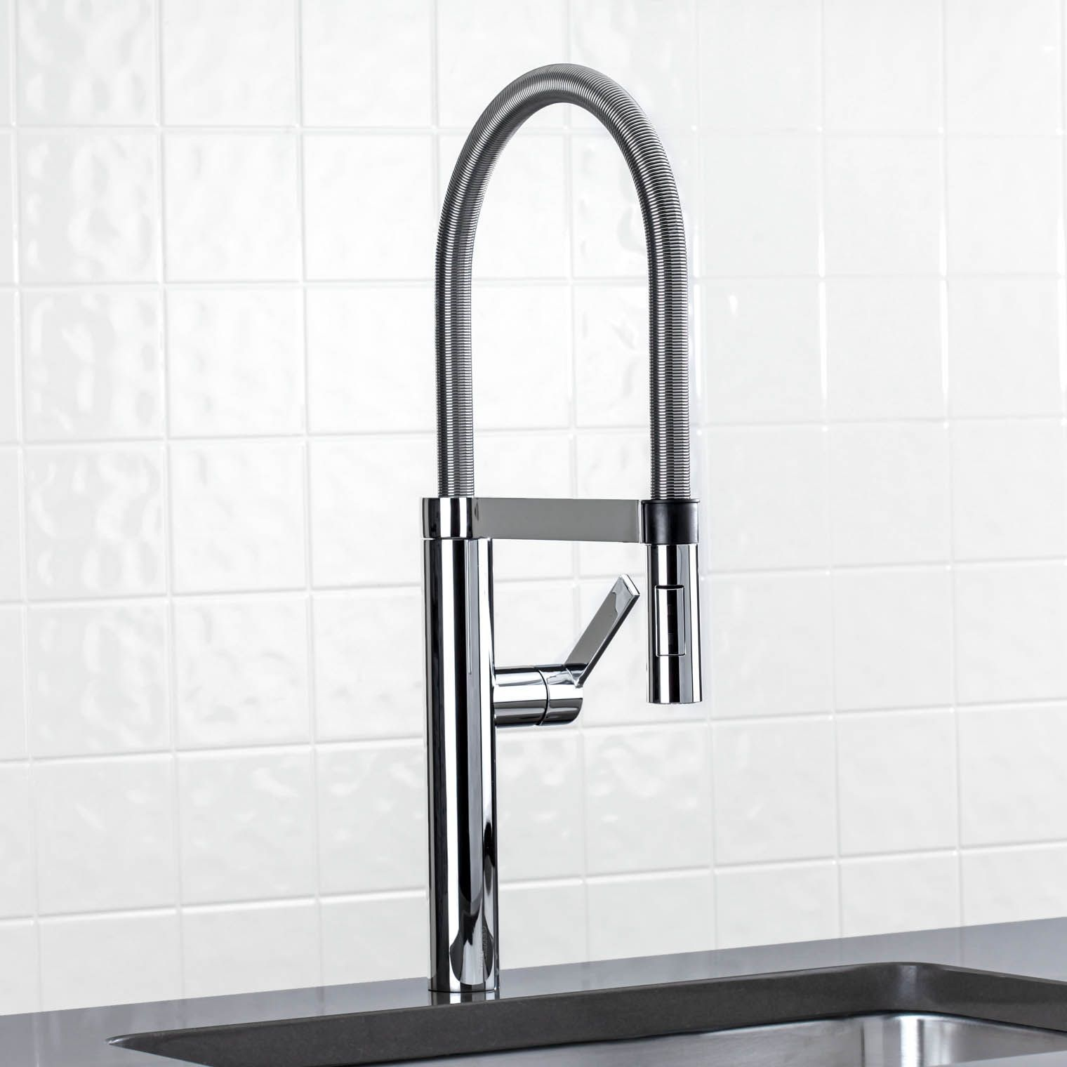 supersteel function kitchen down dual locking sprayer with high grohe concetto com faucet arc pull