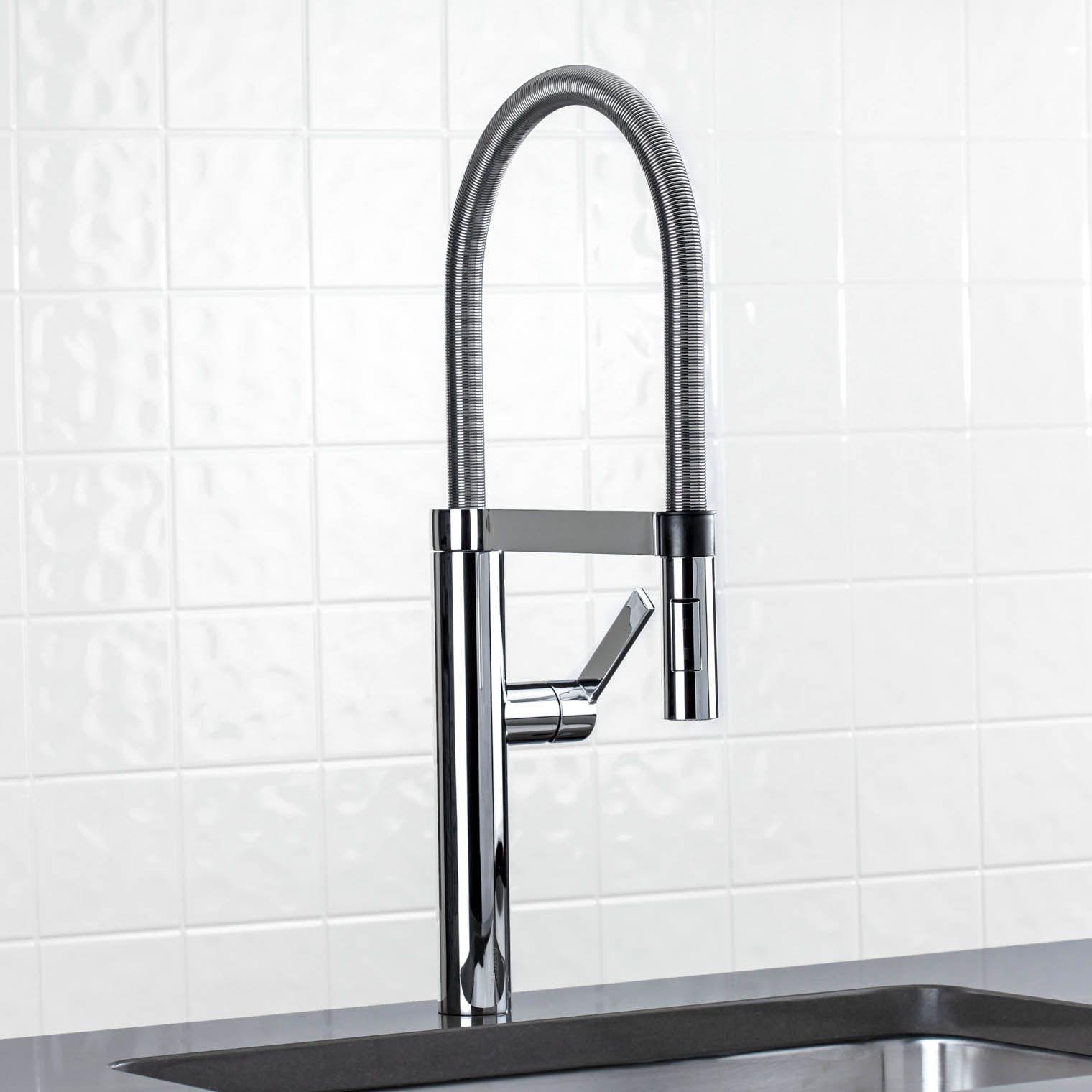 Blanco 441332 Culina Single Handle Semi Professional Pull Down Spray Kitchen Faucet 2 Gpm Satin Nickel