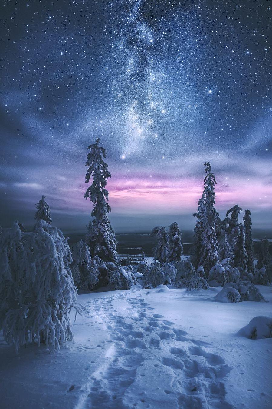 Mystical Levi Finland Cielos Nocturnos Pinterest Paisajes