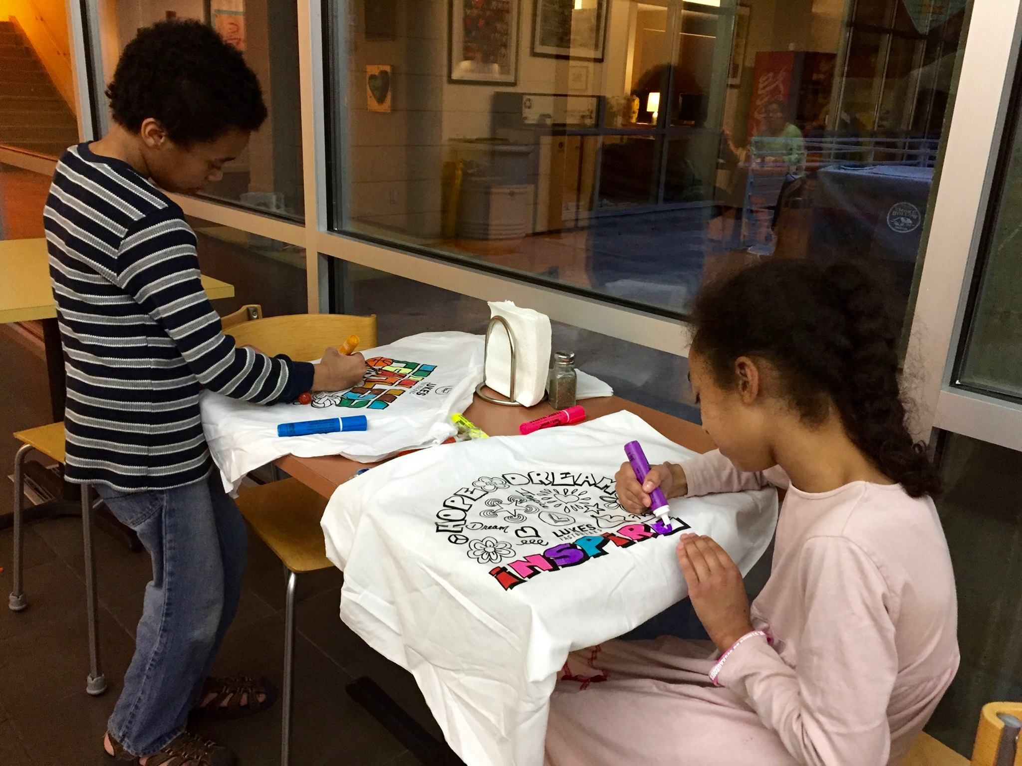 We had a great time coloring pillowcases & handing out Luke\'s ...