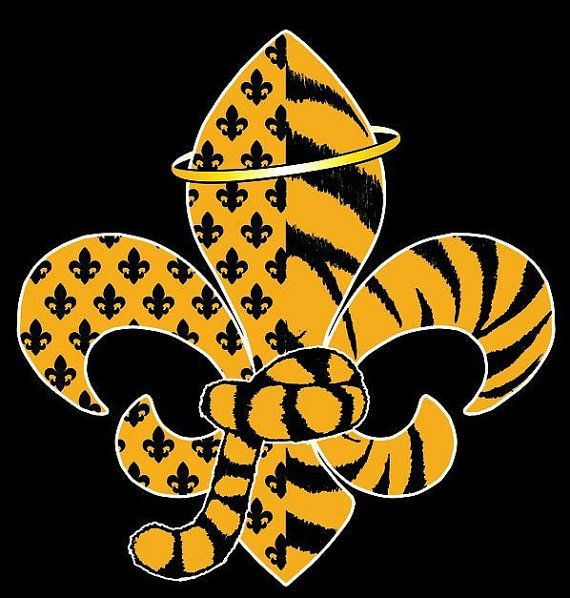 bf20443f Tiger Saint T Shirt New Orleans Saints and LSU by myQTdesigns, $20.00