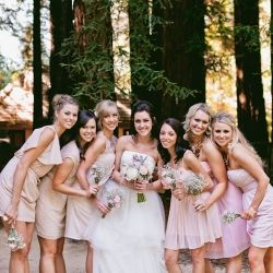 A whimsical woodland wedding nestled in the Redwoods full of rustic DIY details via weareyourphotogs.com
