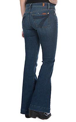 7 For All Mankind Women S Bella Heritage Dojo Trouser Jeans