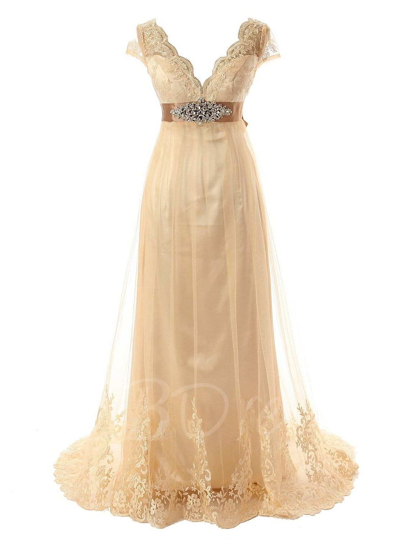 Cap Sleeve Appliques Plus Size Beach Wedding Dress
