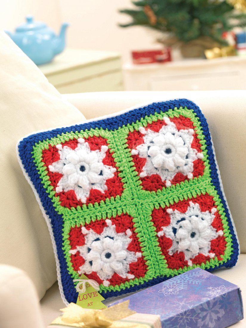 Snowflake granny square scatter cushion   Crochet   Pinterest