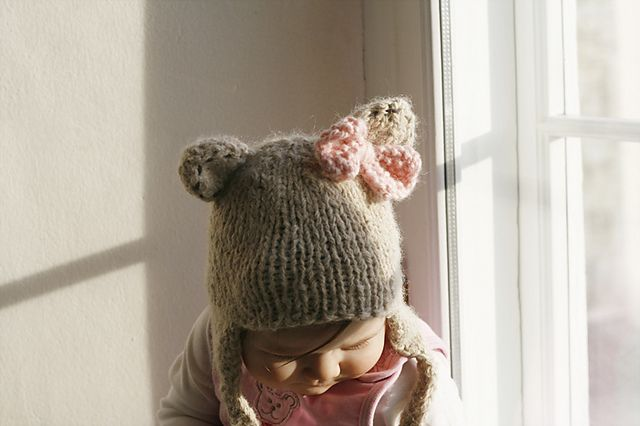 Ravelry: Hat Nalle for baby, child toddler pattern by Muki Crafts