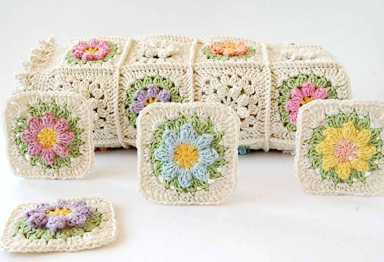 Belo crochet bebê manta padrão livre
