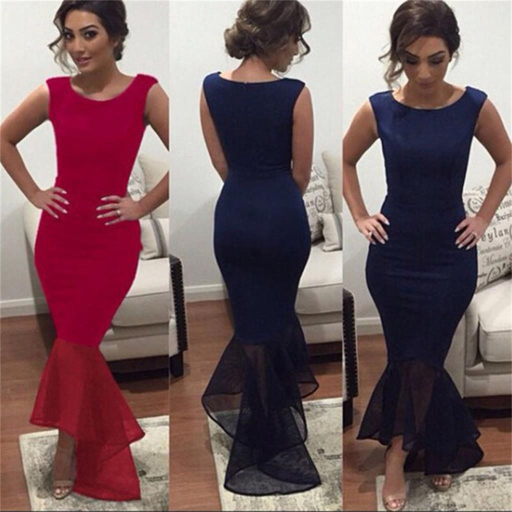 Long custom newest sexy mermaid cheap charming evening party prom