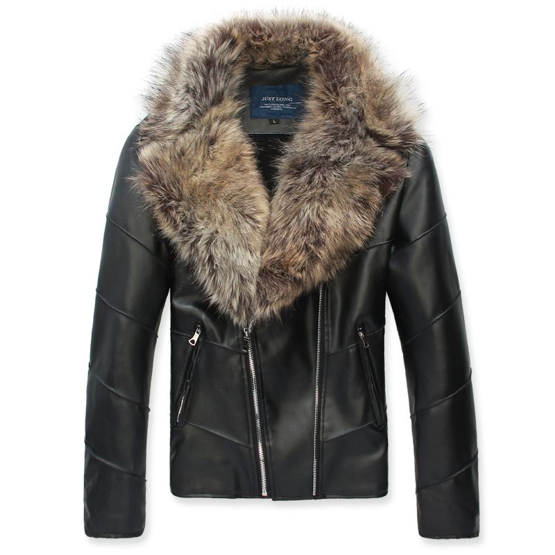 men collars fur leather Sexy jackets