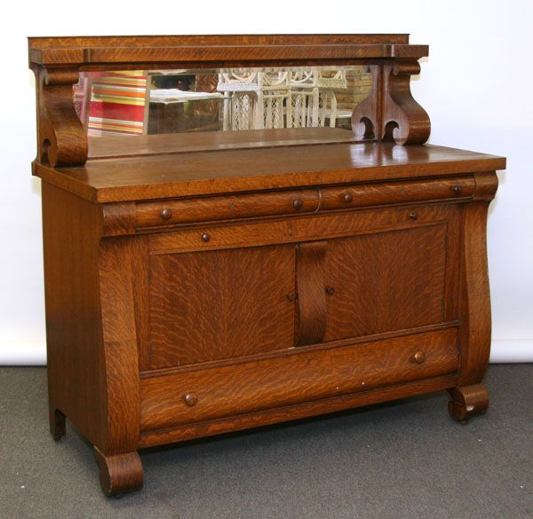 C 1920 S Rockford Furniture Manufacturing Co Bedroom Set: Arts & Crafts Mission Oak Server, Central Furniture Co