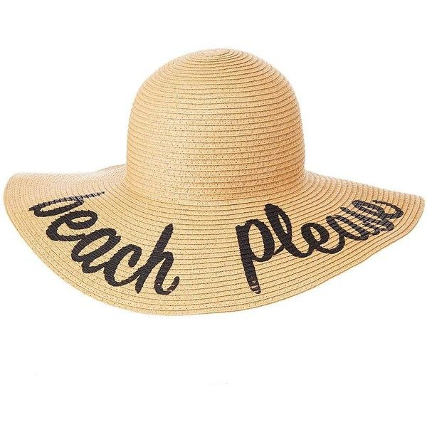 fd66ff892 Charlotte Russe Beach Please Straw Floppy Hat (€8,46) ❤ liked on ...