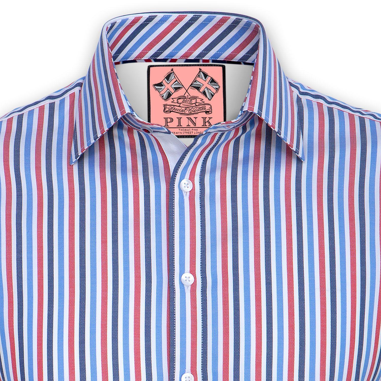 Pink dress shirt for women  Somerset Stripe Shirt  Double Cuff by Thomas Pink  The Thomas Pink