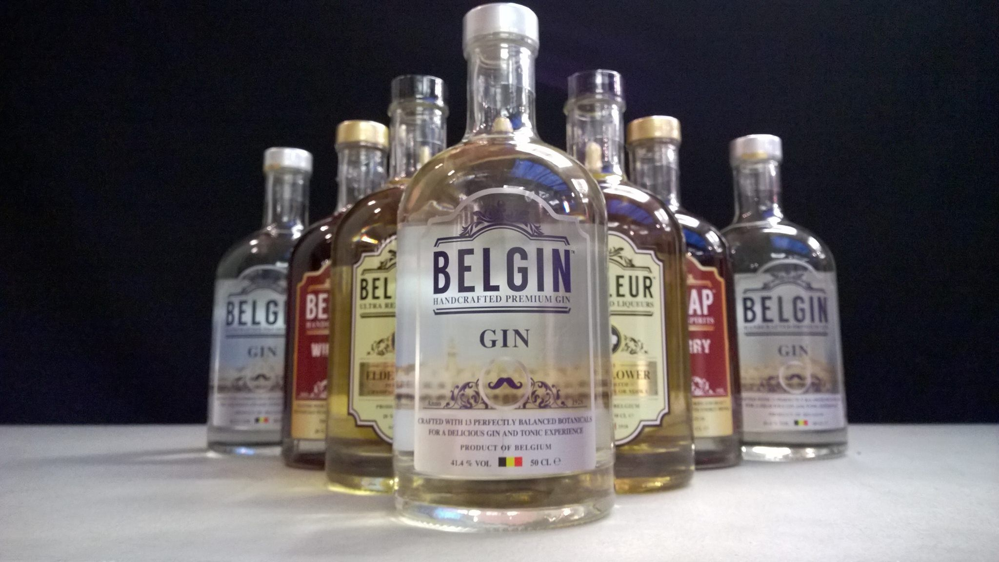Belgin gin, Belfleur elderflower, belsnap wild berry. Belgian spirits