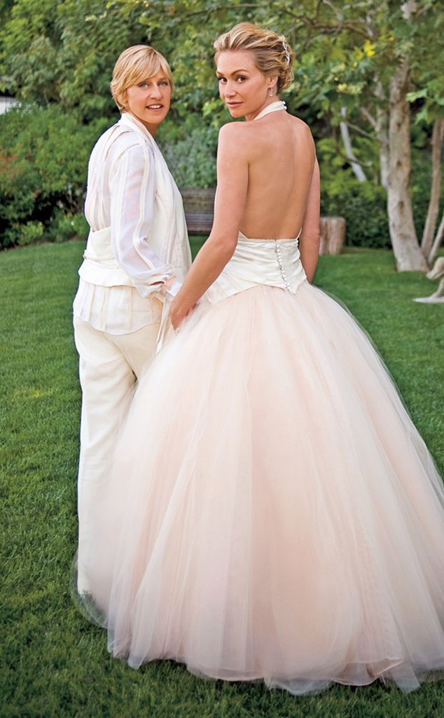 Portia De Rossi From Celeb Wedding Dresses E Online