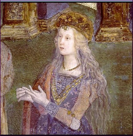 Bildresultat för Lucrezia Borgia. Pinturicchio (1492)