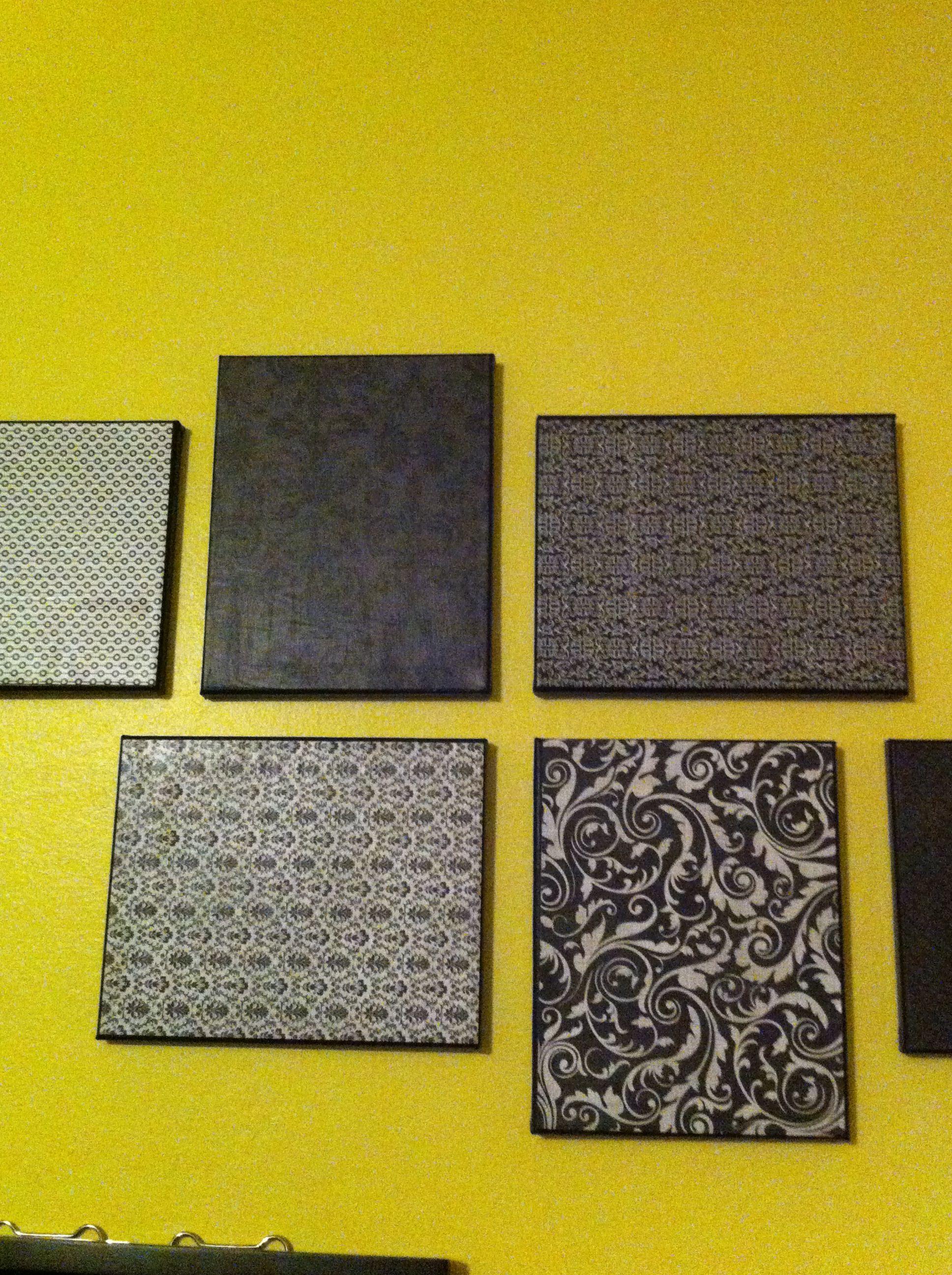 Craft paper on canvas... Cheap wall decor! | DIY | Pinterest | Cheap ...