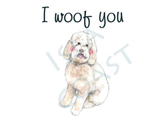 Blank inside card dog card dog birthday card by islacoast on Etsy