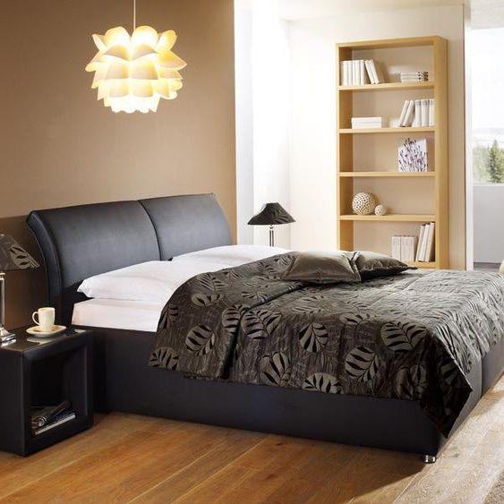 Bett Trapani sandfarben 160x200 cm Bettrahmenhöhe 45 cm