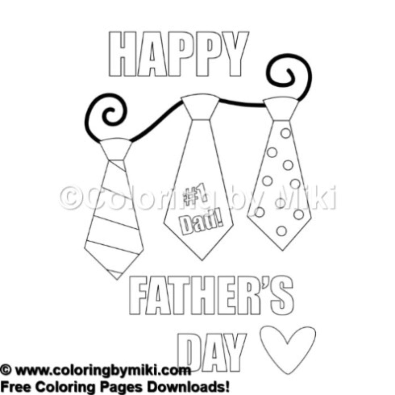 Happy Father\'s Day #1 Dad Coloring Page #646 | Free printable and ...