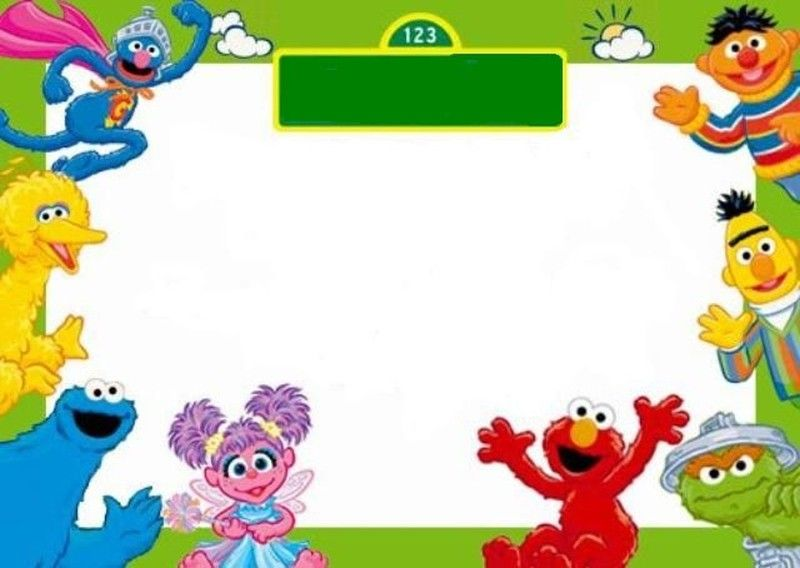 free sesame street invitation template | maddie's first bday, Birthday invitations