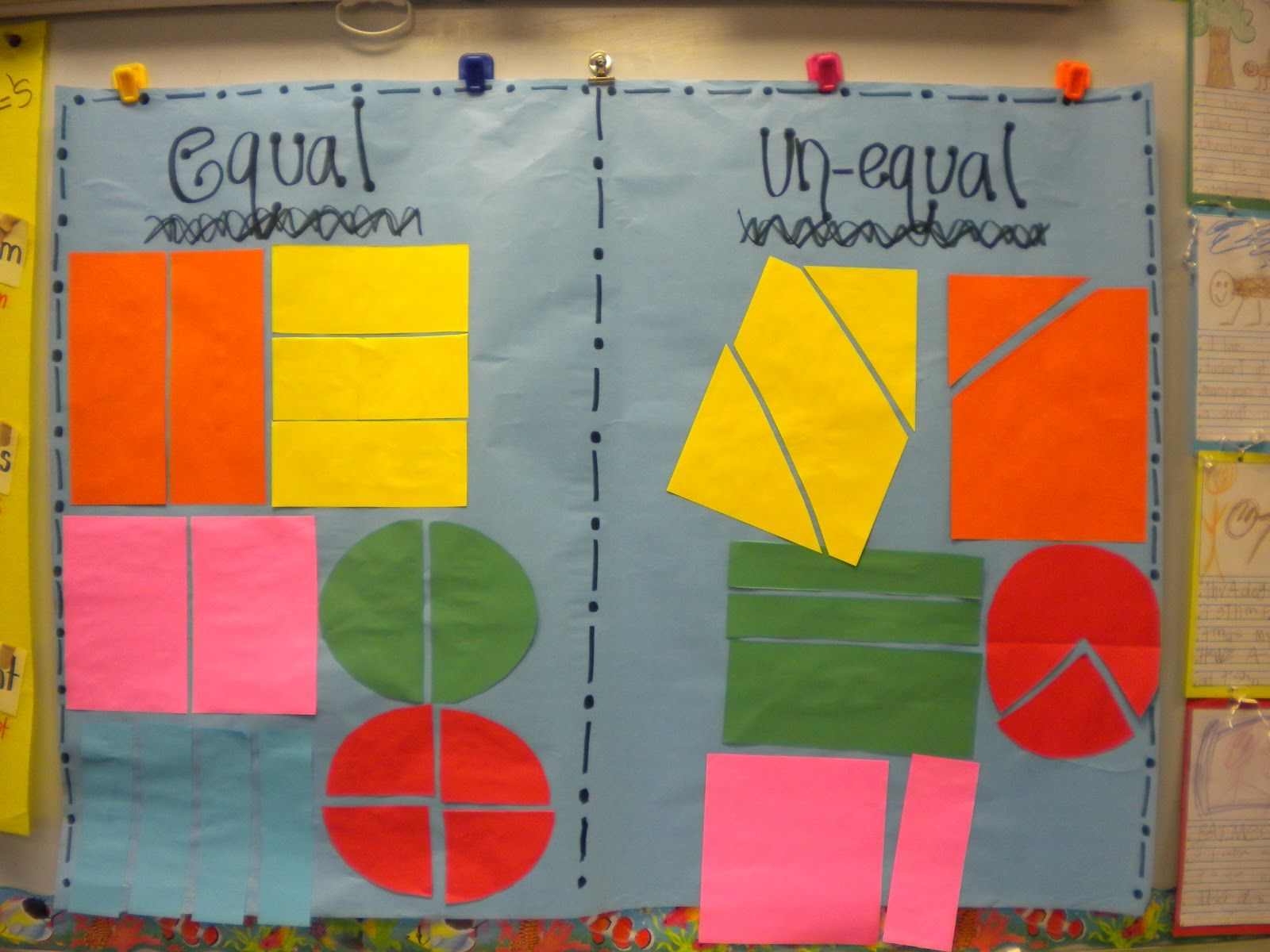 Students Work With Unequally Partitioned Shapes In This