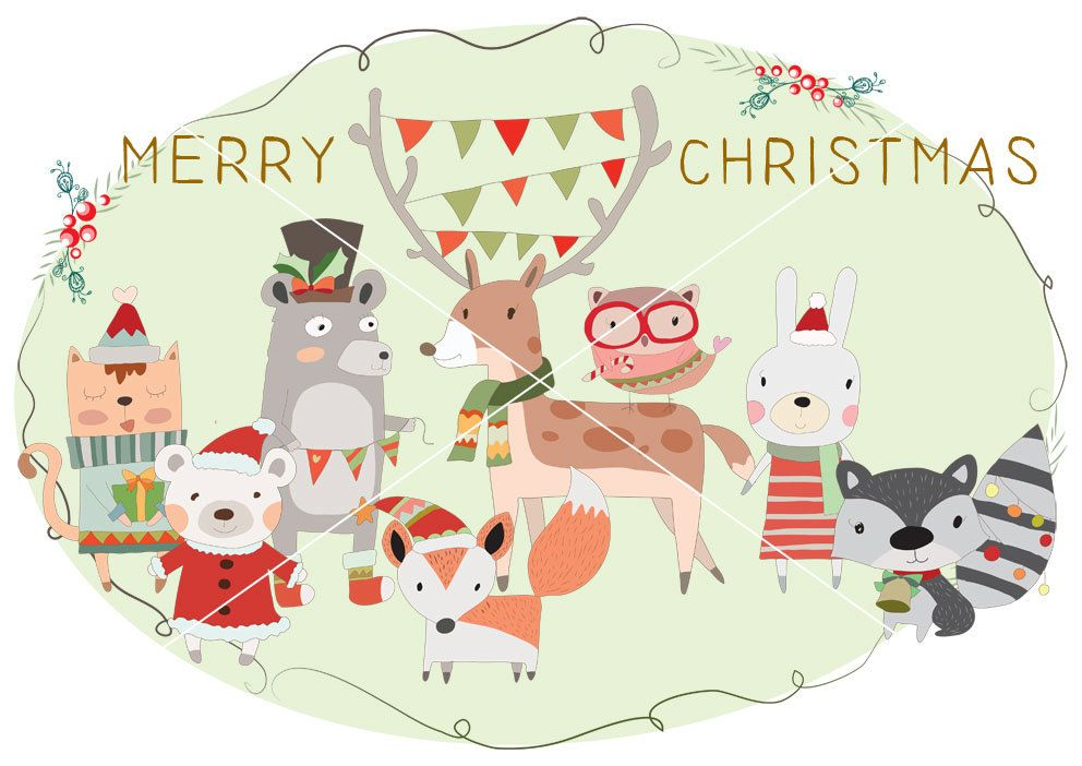 Woodland christmas,Christmas Clipart Instant Download,PNG,JPEG file ...