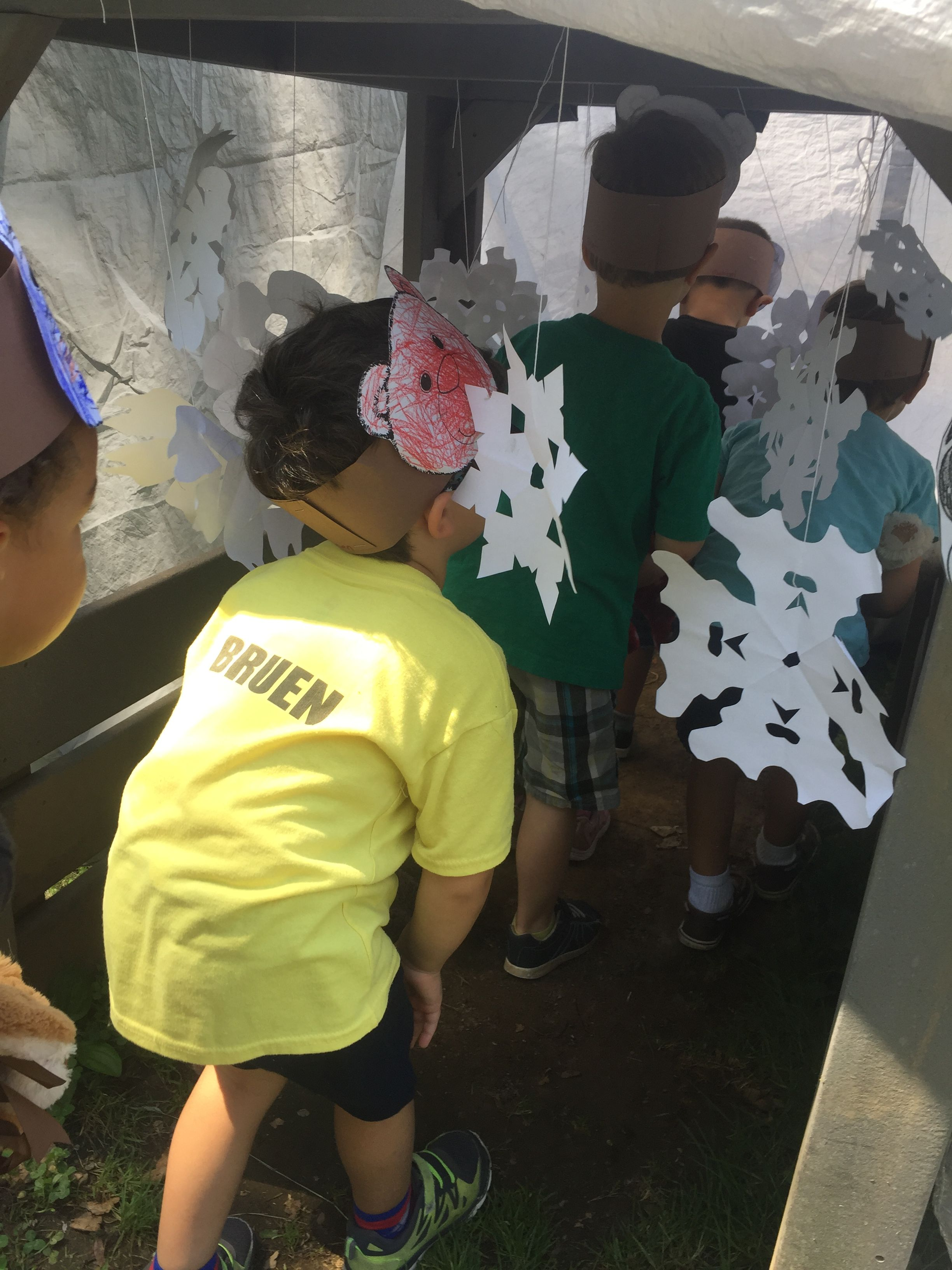 Going On A Bear Hunt Snowy Cave Paper Snowflakes Hung In