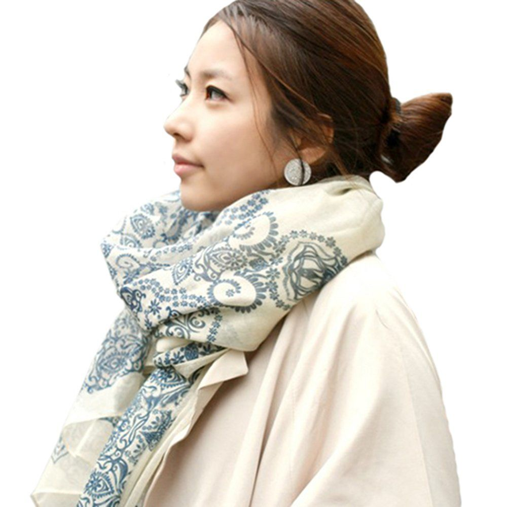 Echarpe Foulard Long Doux Mode Nouveau Chaud Automne Hiver pour Femmes  (Crème Blanc)  Amazon.fr  Vêtements et accessoires 7bcd3307344