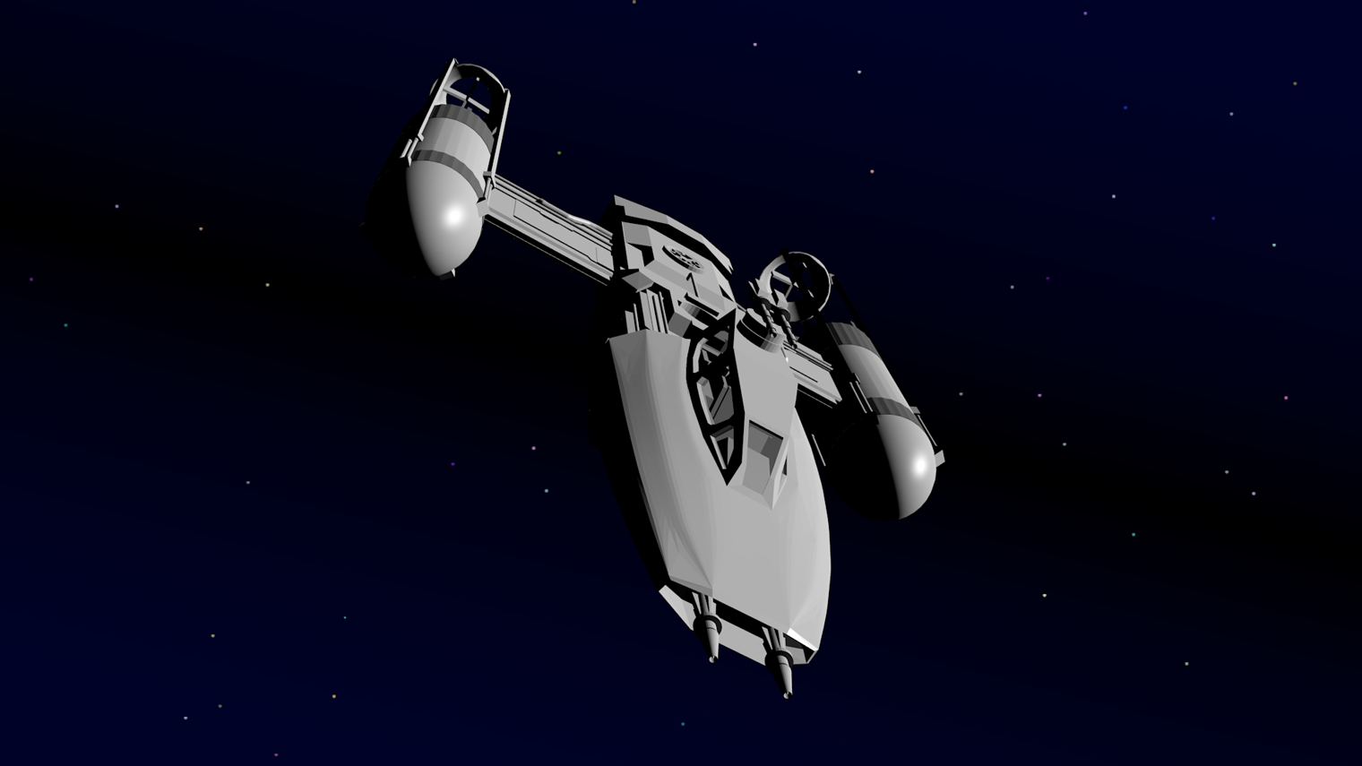 Animation Project, Y-Wing Bomber, Hero ship  - (Un Skinned