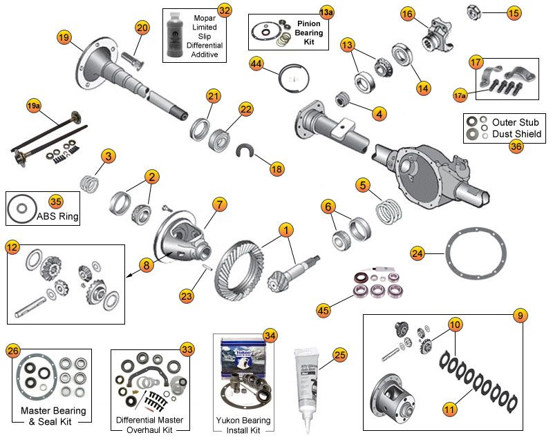 dana 35 parts diagram | Diarra