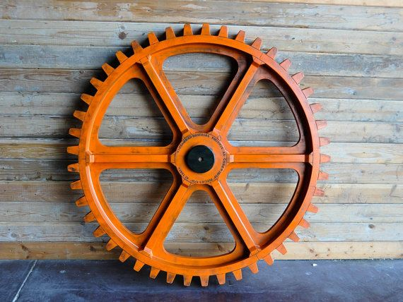 Vintage Industrial Gear Mold Large 54 Wooden Antique Foundry Machine Age Gear Industrial Gears Vintage Industrial Wooden Gears