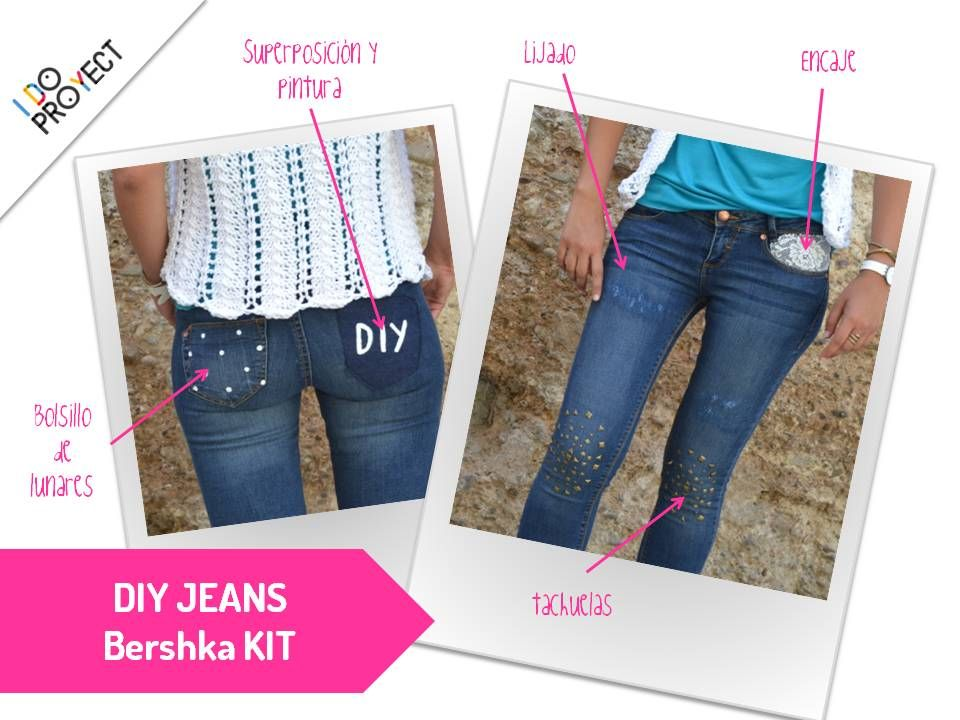 DIY-hazte tu vaqueros chulos. http://idoproyect.com/blog/diy-jeans-con-bershka-kit/