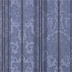 Drexel Stripe #wallpaper in #blue from the Repertoire collection. #Thibaut