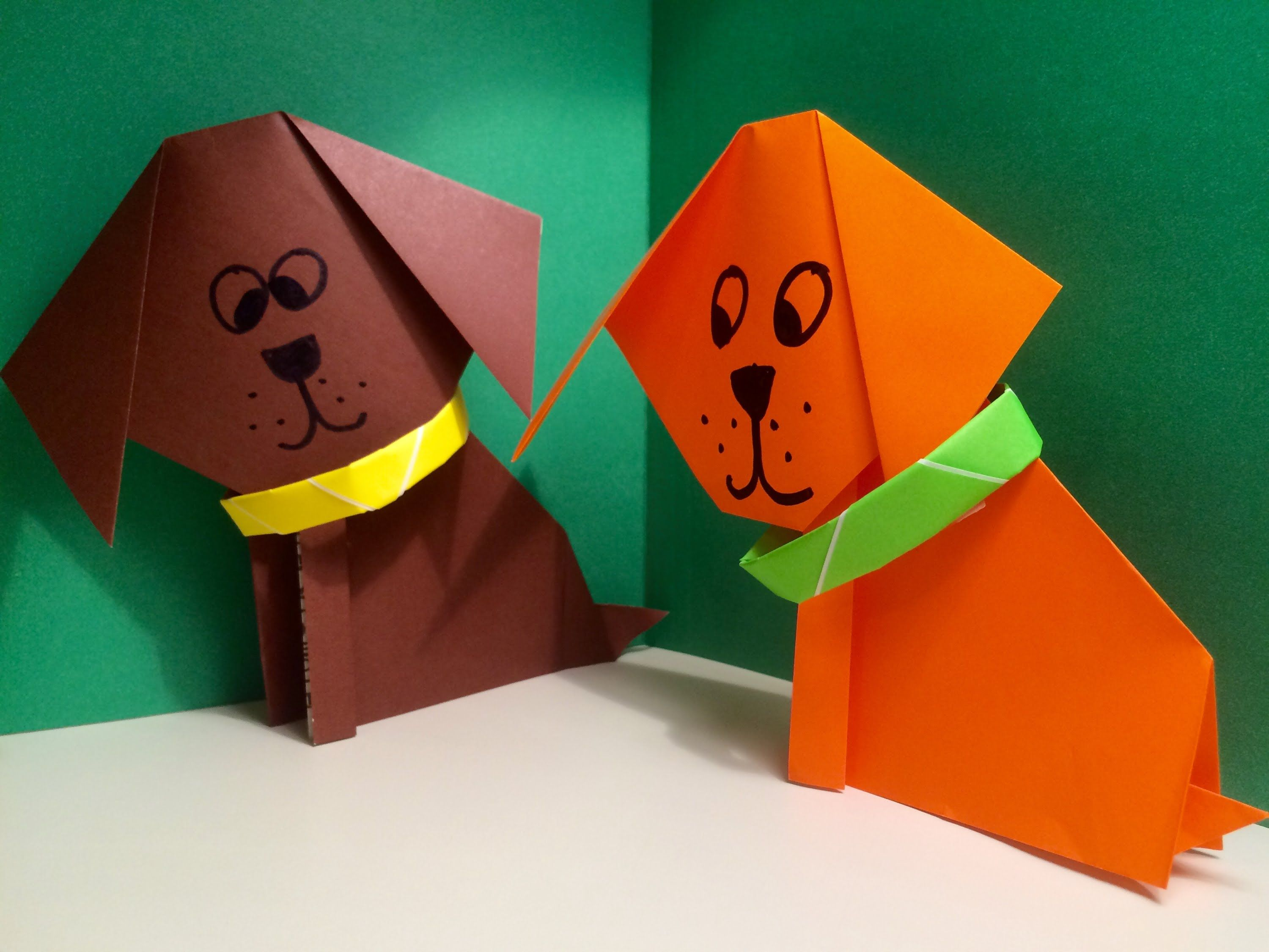 origami dog super easy and fun origami pinterest