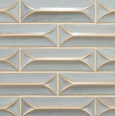 3 X 9 Peaked Diamond Curved Field In Blue Mist Ann Sacks Dimensional Tile Ann Sacks Tiles Tiles