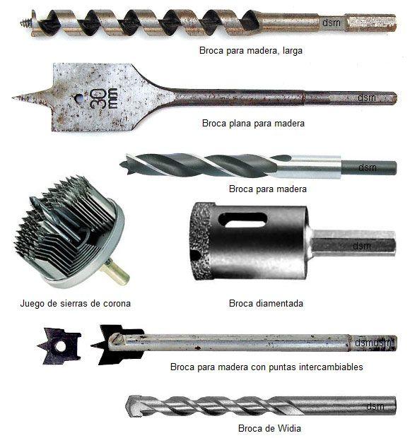Tipo de brocas o mechas herramientas y maquinas - Caracteristicas del marmol ...